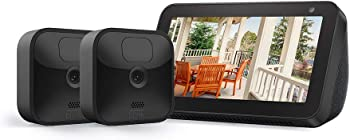 Blink 2-Cam Security Camera System Kit + Echo Show 5 (Charcoal)