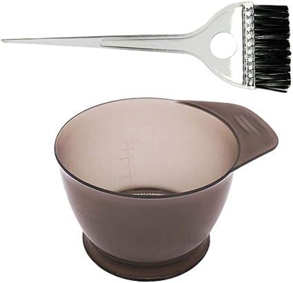 Healifty 2PCS Tinte para el Cabello y Tazón Salon Profesional Mezcla de Color de Cabello Teñido Herramientas para colorear de tinte Tintes De Cabello