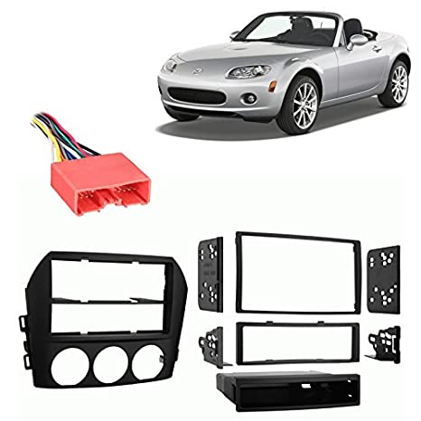 amazon com: fits mazda miata mx-5 06-08 multi din stereo harness radio  install dash kit: car electronics