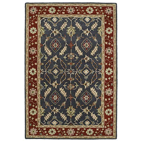 Bombay Home Hand-Tufted Perry Charcoal Global Wool Rug (2'0 x 3'0) - 2' x 3'
