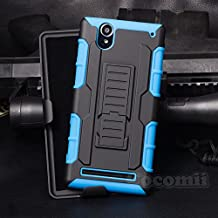 Sony Xperia T2 Ultra Case, Cocomii Robot Armor NEW [Heavy Duty] Premium Belt Clip Holster Kickstand Shockproof Hard Bumper Shell [Military Defender] Full Body Dual Layer Rugged Cover (Blue)