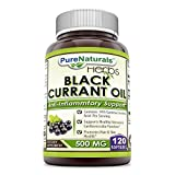 Pure Naturals Black Currant Oil Softgels, 500 mg, 120 Count