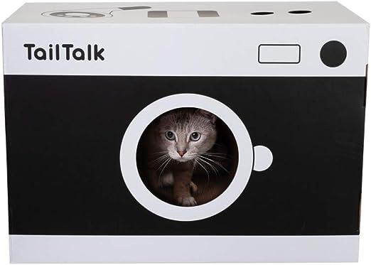 Rascador para Gatos, Forma de Cámara Retro Casa para Gatos 50 X 34.4 X 27.8cm: Amazon.es: Productos para mascotas
