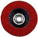 3M(TM) Flap Disc 947D, T27, X-Weight, Ceramic Aluminum Oxide, 4-1/2'' Diameter, 5/8''-11 Internal Thread, 60 Grit, Orange  (Pack of 10)