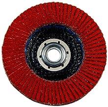 "3M(TM) Flap Disc 947D, T27, X-Weight, Ceramic Aluminum Oxide, 4-1/2"" Diameter, 5/8""-11 Internal Thread, 60 Grit, Orange (Pack of 10)"