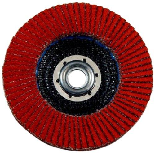 3M(TM) Flap Disc 947D, T27, X-Weight, Ceramic Aluminum Oxide, 4-1/2 Diameter, 5/8-11 Internal Thread, 40 Grit, Orange (Pack of 10) by 3M B00EW7FWRS