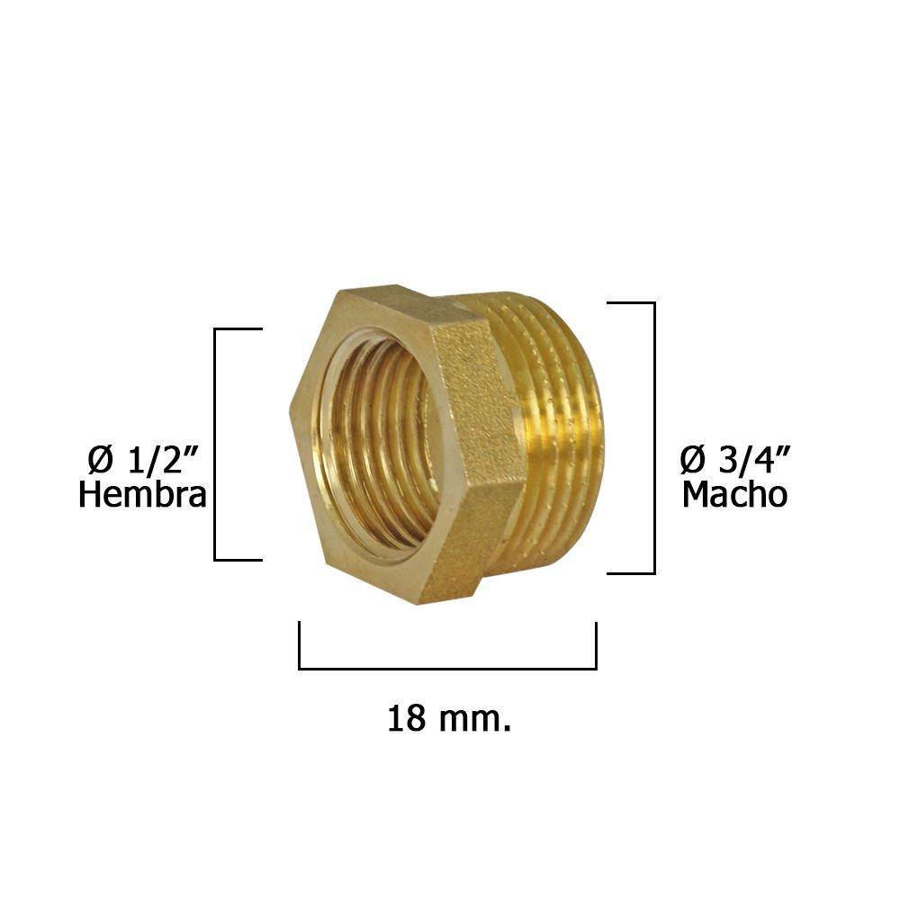 Wolfpack 4020087/ /R/éduction Hexagonal poli m/âle 3//4///–/femelle 1//2