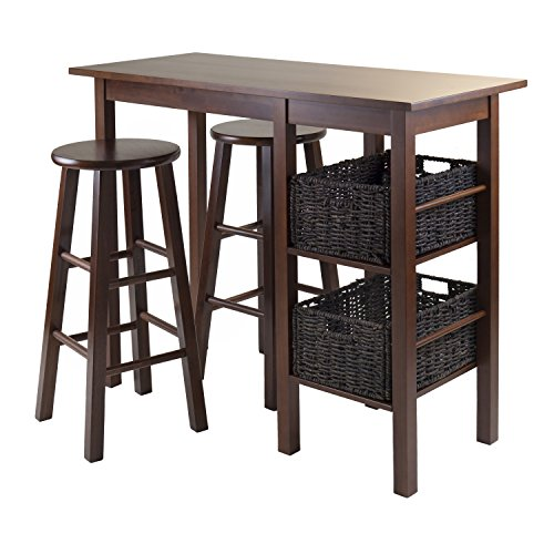 Winsome Wood Egan 5-Piece Breakfast Table with 2-Baskets and 2-Stools (Breakfast For Sale Tables)