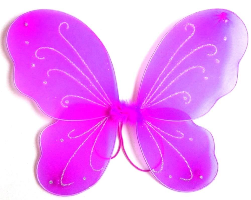 Fee Halloween Theater Schmetterlingsfl/ügel Karneval lila Kost/ümzubeh/ör Geschenkidee f/ür Weihnachten und Geburtstag Verkleidung 3-7 Jahre M/ädchen