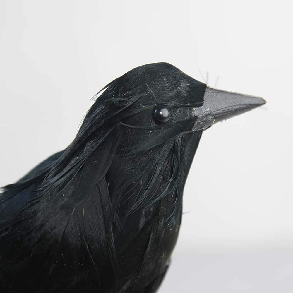Rocita 1pz Halloween simulato Crow Raven Artificiale per la Decorazione di Halloween Party