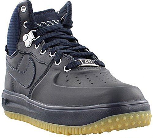 Nike Lunar Force 1 Sneaker Boot Dark Obsidian/Dark Obsidian (Big Kid) (5 M US Big Kid)