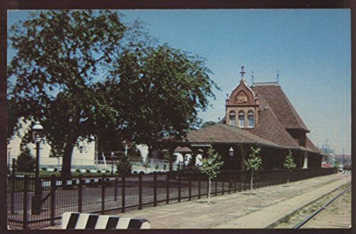 City National Bank Train Depot Railroad Station Lincoln Nebraska Postcard