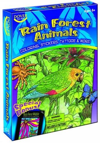 Rain Forest Animals Fun Kit (Dover Fun Kit) (Dover Kits Fun)