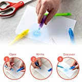 SyPen Invisible Disappearing Ink Pen Marker Secret spy Message Writer with uv Light Fun Activity for Kids Party Favors Ideas Gifts and Stock Stuffers, (12 Pack)