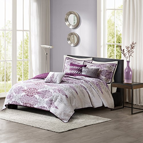 Madison Park Sonali 6 Piece Quilted Coverlet Set, King/Calif