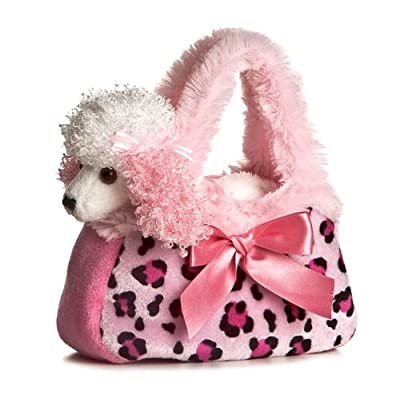 Aurora Fancy Pal Pretty Poodle Pink Pet Purse: Toys & Games