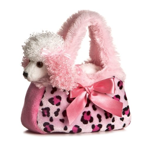 Aurora Fancy Pal Pretty Poodle Pink Pet Purse (Plush Poodle Purse)