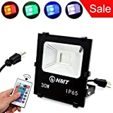 LED RGB Flood Light Stage Lighting Outdoor Color Changing Lights with Remote Control IP65 Waterproof Dimmable Wall Washer Light Flood Lamp (RGB 30W) For Sale