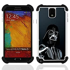 - Darth Force/ H??brido 3in1 Deluxe Impreso duro Soft Alto Impacto caja de la armadura Defender - SHIMIN CAO - For Samsung Galaxy Note3 N9000 N9008V N9009