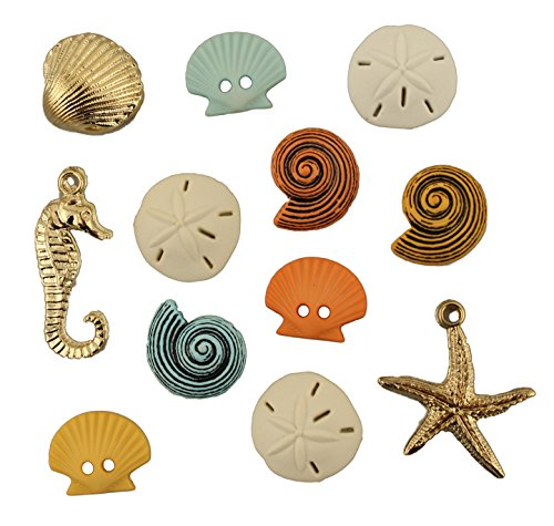 Buttons Galore Button Theme Pack, Beach Treasures