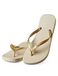 Hotmarzz Women's Slim Flip Flops Summer Sandals Beach Slippers