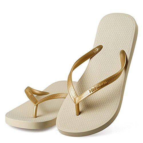 Hotmarzz Women's Slim Flip Flop Summer Flat Slippers Beach Thong Sandals Size 8 B(M) US / 39 EU / 40 CN, Apricot