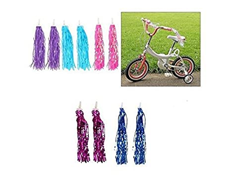 Accessoires de porte-b/éb/é Accessoires de b/éb/é pour enfants Grips /à /étincelles Rubans /à la couleur assortis Bike Scooter Guidon Fl/ûres /à bec Pom-pom Pair Rose