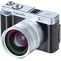 Digital Camera Vlogging Camera, Full HD 1080p 24.0MP...