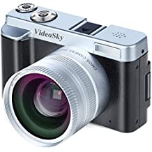 """Digital Camera Vlogging Camera, Full HD 1080p 24.0MP VideoSky Video Camera Camcorder with Wide Angle Lens, 3.0"""" IPS Flip Screen,16X Digital Zoom,WiFi Function Camera Recorder (Two Batteries Included)"""