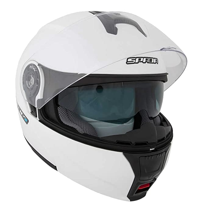 Spada Cyclone Flip Front Motorcycle Helmet ACU Gold Approved Gloss Black L 59-60cm