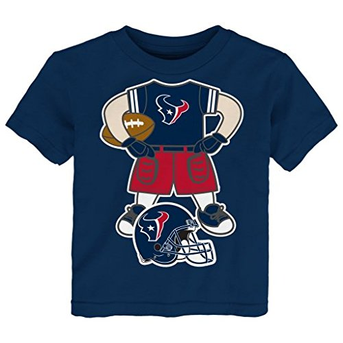 NFL Houston Texans Toddler/Infant Player Body Tee, 7#, 12 Months, Deep Obsidian
