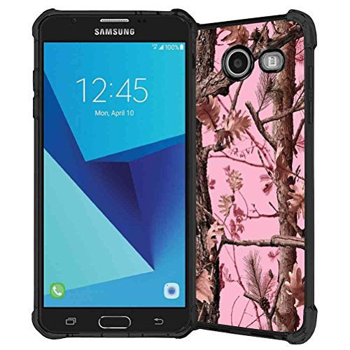 Galaxy J7 V Case, Galaxy J7 Prime Case, Galaxy J7 Perx Case, Galaxy J7 Sky Pro / Galaxy Halo Case, ABLOOMBOX Hunting Camo Fabric Camouflage Pattern TPU Rubber Soft Skin Silicone Protective Case Cover
