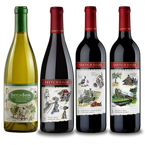 The Complete Sketchbook Collection Wine Mixed Pack, 4 x 750 mL