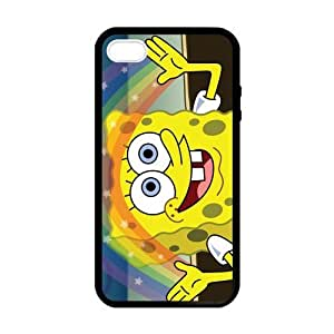 SUUER pc Silicone Custom SpongeBob SquarePants Design Skin Personalized Custom pc pc CASE for iPhone 5 5s Durable Case Cover