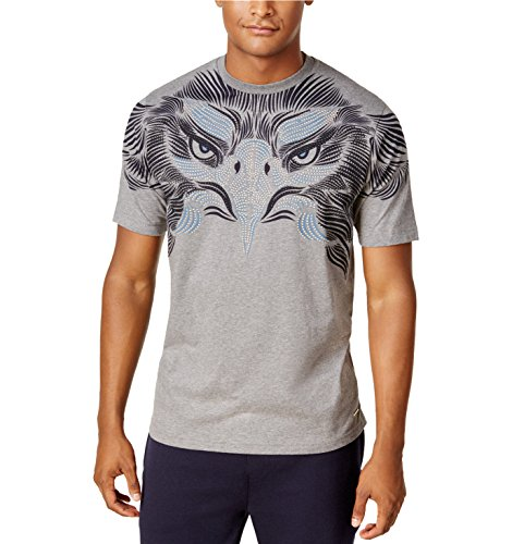 - Sean John Men's Graphic Printed T-Shirt. Studded Eagle. (XL, Heather Grey)