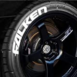 Tire Stickers FALKEN Permanent Tire Lettering Kit - White (4 of each word) - CUSTOM SIZING