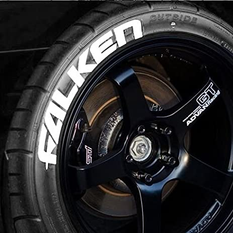 falken permanent tire lettering kit white 4 of each word custom