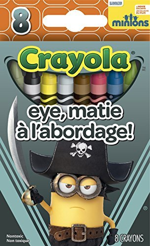 Crayola Minions The Movie High Quality Premium Crayons 8 Count (Eye Matie) ()
