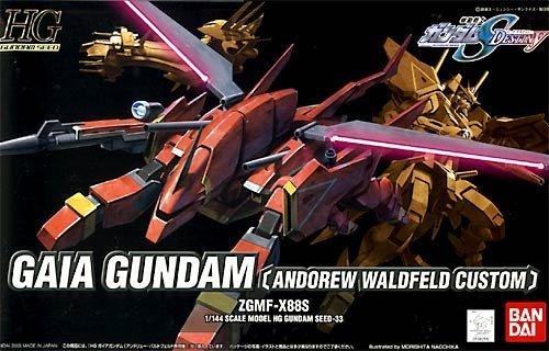 Mobile Suit Gundam SEED Destiny 1/144 Scale HG Model Kit / Modellbausatz Nr. 33: Gaia Gundam (Andrew Waldfeld Custom) ZGMF-X88S