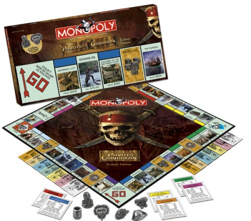 Usaopoly Pirates Of The Caribbean Trilogy Edition Monopoly Trilogy Monopoly