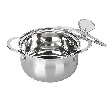 Olla- Pote de Sopa, Mini Acero Inoxidable, Calibre 18cm, Conveniente para 1 Persona Cocina de inducción, Estufa de cerámica eléctrica, Universal: Amazon.es: ...
