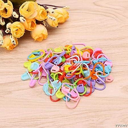 100pcs Knitting Crochet Locking Stitch Needle Clip Marker Holder Tool Safety Pin