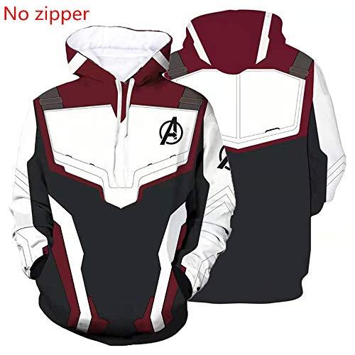 Novel Costume Breathable Comfortable Superhero Hoodie Adult Sweatshirt Jacket Sweatpants for Halloween Cosplay Costume (White NO:3, L) ()