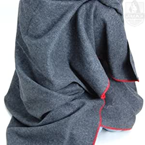 Fox Outdoor Wool Camp Blanket - Dark Grey