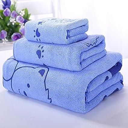 GBSHOP Toalla de baño1 Toallas, 2 Toallas, algodón, algodón, Hombres Suaves,