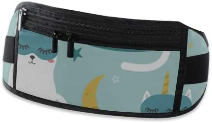 Cats Unicorns Stars Moon Running Lumbar Pack For Travel Outdoor Sports Walking Travel Waist Pack,travel Pocket With Adjustable Belt