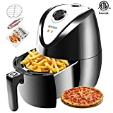 ROVSUN Electric Hot Air Fryer 3.7QT Capacity ETL 1300W Deep Fryers Oven Cooker Multi-Function
