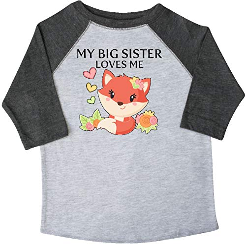 inktastic - My Big Sister Toddler T-Shirt 4T 3/4 Sleeve Heather Smoke 343f3