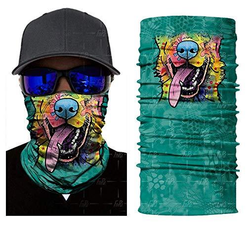 3D Seamless Balaclava Magic Scarf Neck Face Mask Ghost Skull Skeleton Head Bandana Shield Headband Headwear,OneSize,Hr041107 -