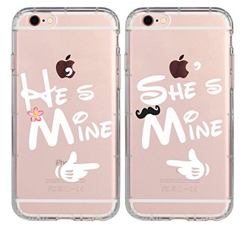 1 Case Per Order Cute Black He's Mine Best Friends...